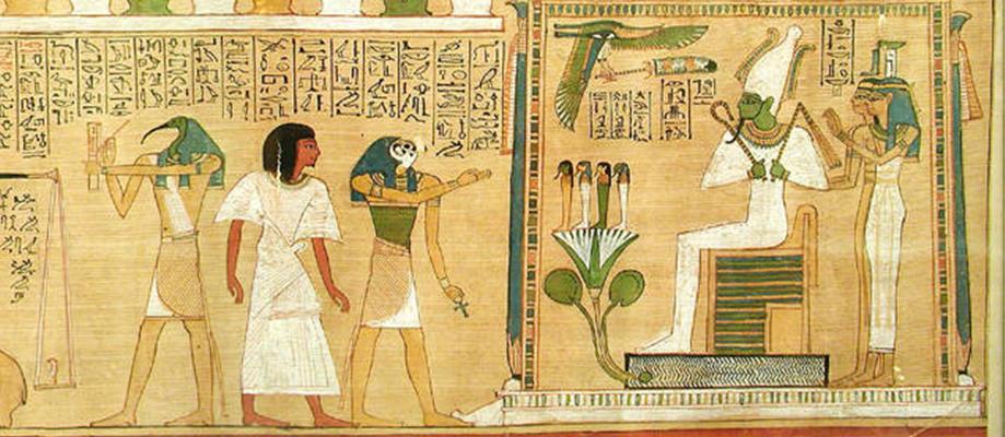 Deus Thoth - Julgamento de Osíris
